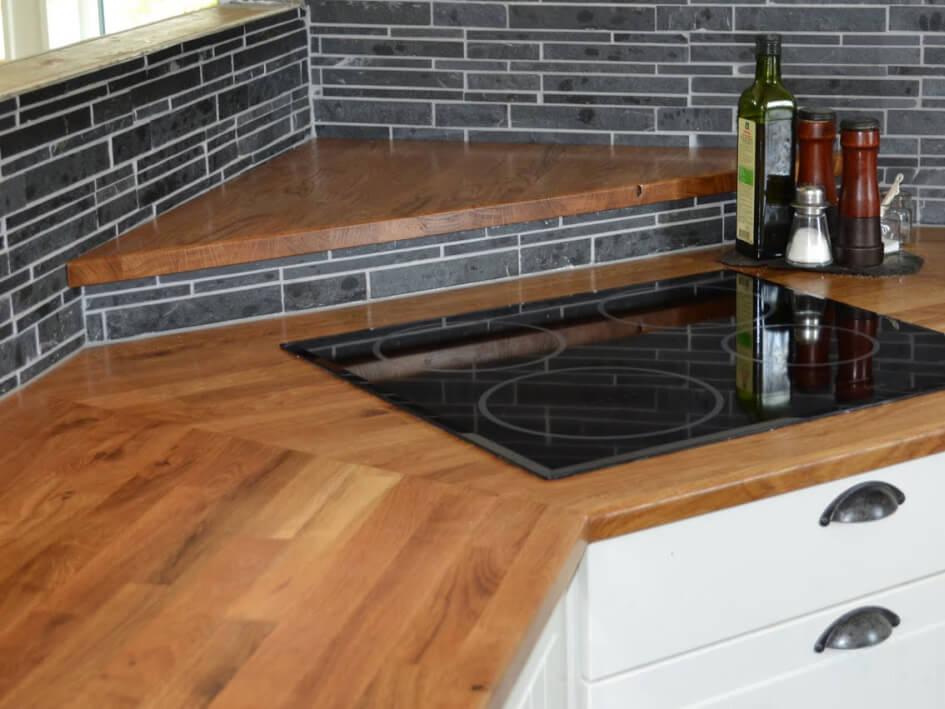 Blat de bucătărie din lemn masiv sau cherestea