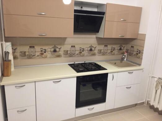 Mobilă bucătărie mică, MDF lucios - model EMA