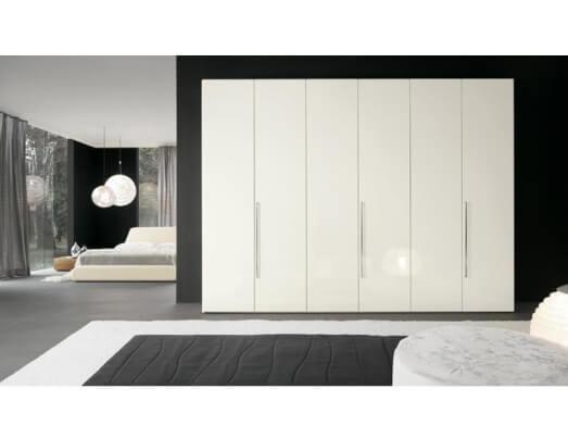 Șifonier BIG din PAL, dimensiuni 240/52/200 cm, alb mat, 6 uși