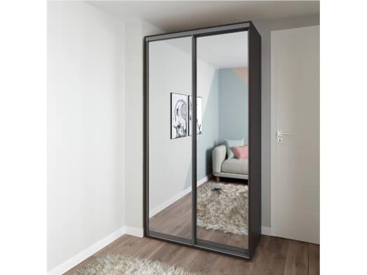 Dressing wenge 2 uși culisante și oglinzi - model MIRROR