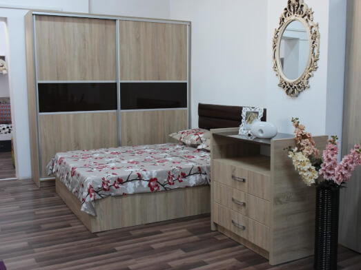 Mobilă de dormitor cu dressing - model SHINE