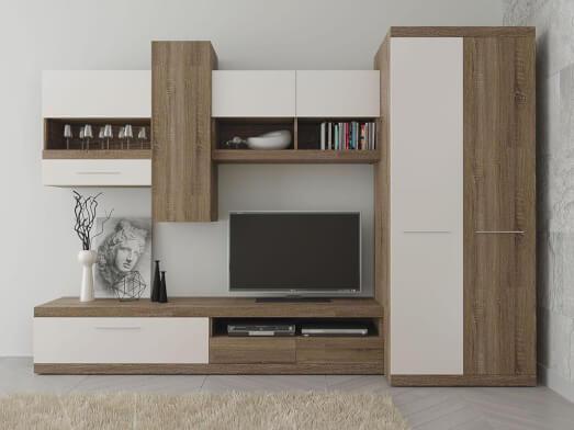 Mobilă living modernă, 315 x 195,5 x 54 cm - model TOKIO