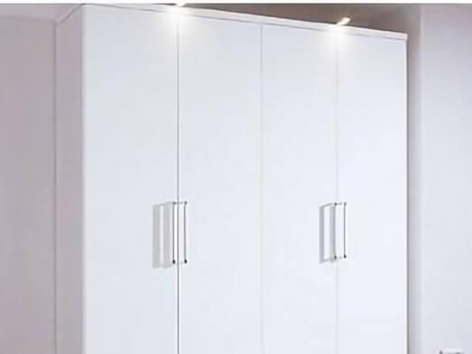 Șifonier 4 uși, alb - model WHITE