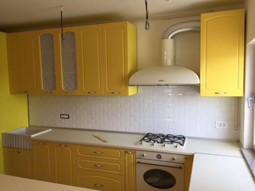 Bucătărie clasică PAL melaminat și MDF vopsit - model CRIS