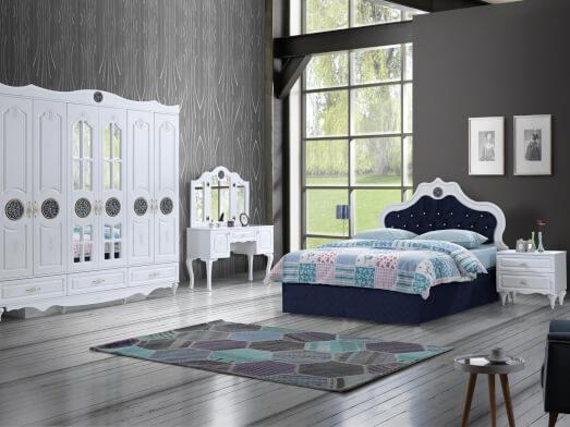 Dormitor clasic din MDF înfoliat alb - model ORKIDE
