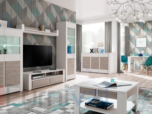 Living modular cu lumini LED - model ALVO