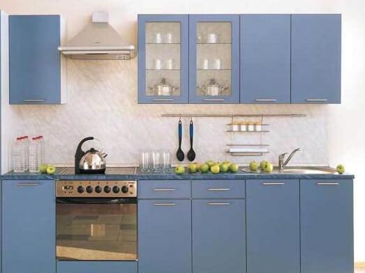 Mobilă de bucătărie, albastră - model LISA
