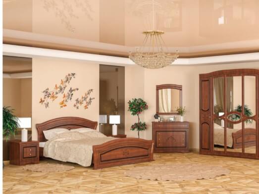 Mobila dormitor din PAL melaminat si MDF semilucios - model Milano