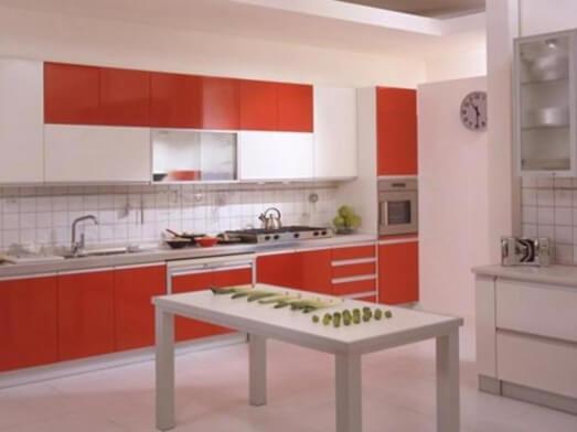 Mobilă de bucătărie, MDF lucios - model CLARISA